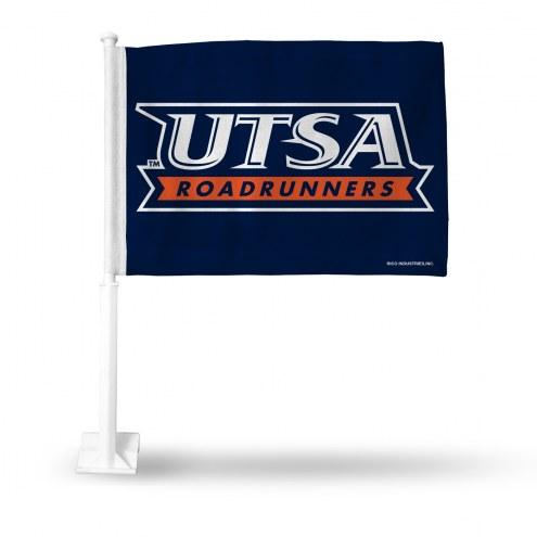 Texas San Antonio Roadrunners College Car Flag