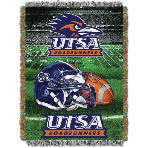 Texas San Antonio Roadrunners Home Field Advantage Throw Blanket