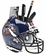 Texas San Antonio Roadrunners Schutt Football Helmet Desk Caddy