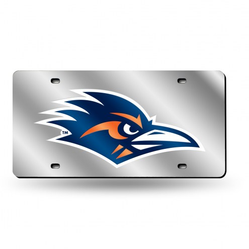 Texas San Antonio Roadrunners Silver Laser Cut License Plate