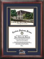 Texas San Antonio Roadrunners Spirit Diploma Frame with Campus Image