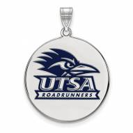 Texas San Antonio Roadrunners Sterling Silver Extra Large Enameled Disc Pendant