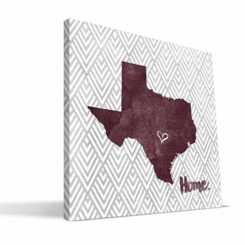 "Texas State Bobcats 12"" x 12"" Home Canvas Print"