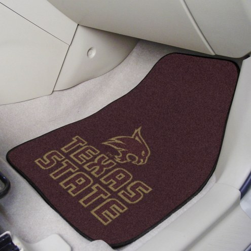 Texas State Bobcats 2-Piece Carpet Car Mats