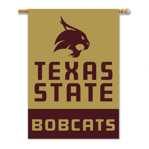 "Texas State Bobcats 28"" x 40"" Banner"