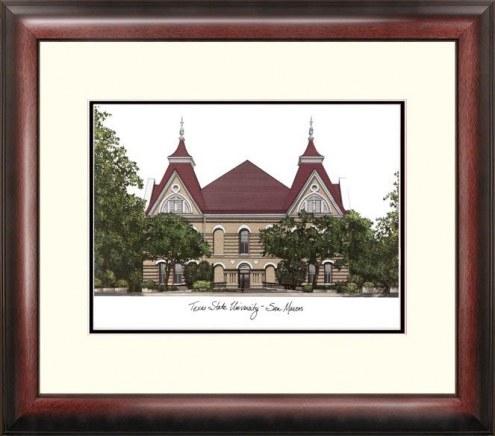 Texas State Bobcats Alumnus Framed Lithograph