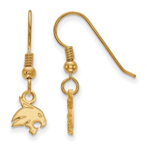 Texas State Bobcats Sterling Silver Gold Plated Extra Small Dangle Earrings