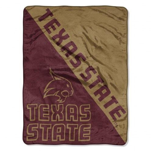 Texas State Bobcats Halftone Raschel Blanket