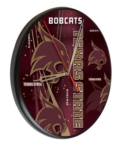 Texas State Bobcats Digitally Printed Wood Clock