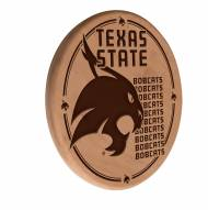 Texas State Bobcats Laser Engraved Wood Sign
