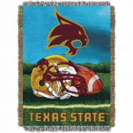 Texas State Bobcats Home Field Advantage Throw Blanket