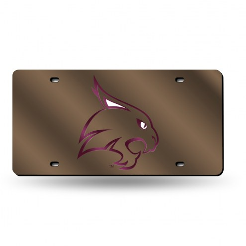 Texas State Bobcats Laser Cut License Plate