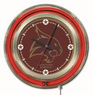 Texas State Bobcats Neon Clock