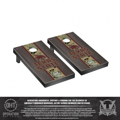 Texas State Bobcats Operation Hat Trick Stained Cornhole Game Set