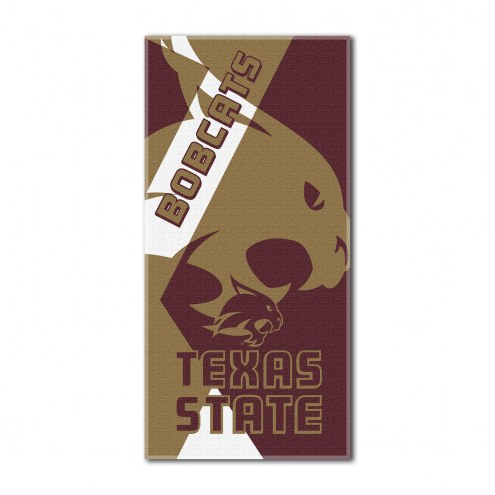 Texas State Bobcats Puzzle Beach Towel