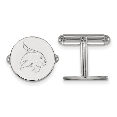 Texas State Bobcats Sterling Silver Cuff Links