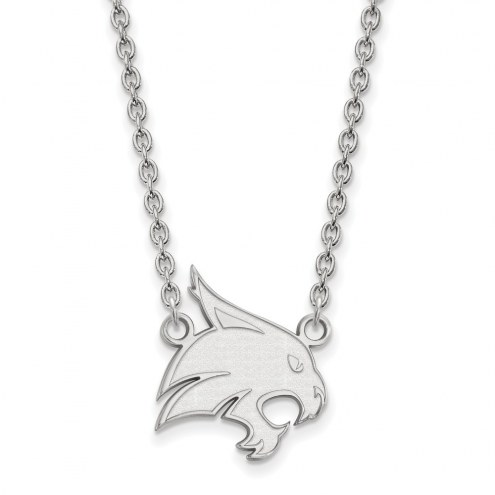 Texas State Bobcats Sterling Silver Large Pendant Necklace