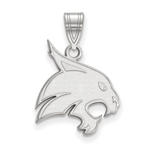 Texas State Bobcats Sterling Silver Large Pendant