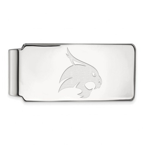 Texas State Bobcats Sterling Silver Money Clip
