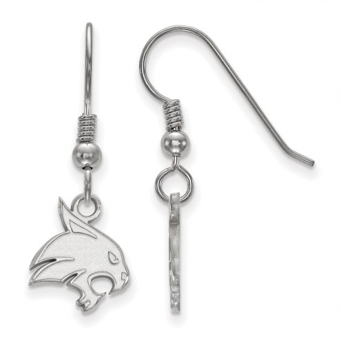 Texas State Bobcats Sterling Silver Small Dangle Earrings