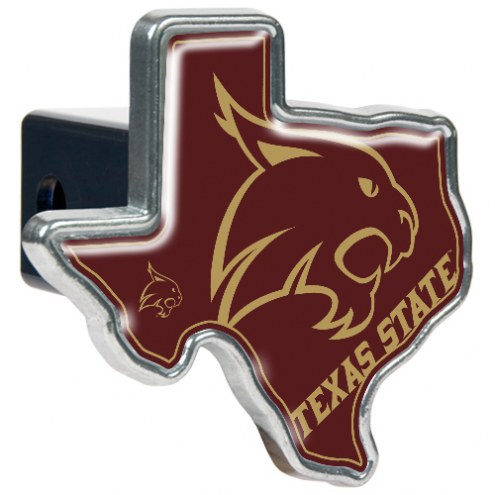 Texas State Bobcats Texas Shaped Trailer Hitch Cover