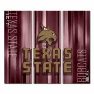 Texas State Bobcats Triptych Rush Canvas Wall Art
