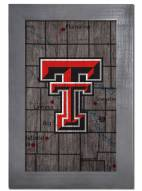 "Texas Tech Red Raiders 11"" x 19"" City Map Framed Sign"