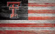 "Texas Tech Red Raiders 11"" x 19"" Distressed Flag Sign"