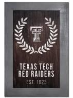 "Texas Tech Red Raiders 11"" x 19"" Laurel Wreath Framed Sign"