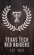 "Texas Tech Red Raiders 11"" x 19"" Laurel Wreath Sign"