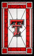 "Texas Tech Red Raiders 11"" x 19"" Stained Glass Sign"