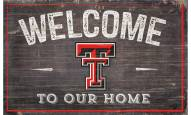 "Texas Tech Red Raiders 11"" x 19"" Welcome to Our Home Sign"