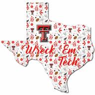 "Texas Tech Red Raiders 12"" Floral State Sign"