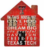 "Texas Tech Red Raiders 12"" House Sign"