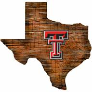 "Texas Tech Red Raiders 12"" Roadmap State Sign"