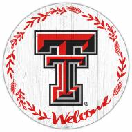 "Texas Tech Red Raiders 12"" Welcome Circle Sign"