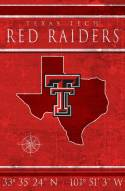 "Texas Tech Red Raiders 17"" x 26"" Coordinates Sign"