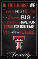 "Texas Tech Red Raiders 17"" x 26"" In This House Sign"