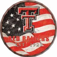 "Texas Tech Red Raiders 24"" Flag Barrel Top"