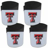 Texas Tech Red Raiders 4 Pack Chip Clip Magnet with Bottle Opener