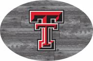 "Texas Tech Red Raiders 46"" Distressed Wood Oval Sign"