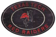 "Texas Tech Red Raiders 46"" Heritage Logo Oval Sign"
