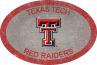 "Texas Tech Red Raiders 46"" Team Color Oval Sign"
