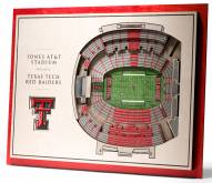 Texas Tech Red Raiders 5-Layer StadiumViews 3D Wall Art