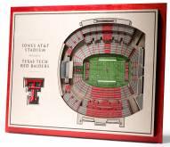 Texas Tech Red Raiders 5-Layer StadiumViews 3D Wall Art