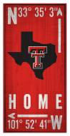 "Texas Tech Red Raiders 6"" x 12"" Coordinates Sign"