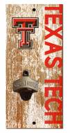 "Texas Tech Red Raiders 6"" x 12"" Distressed Bottle Opener"