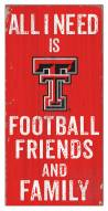 "Texas Tech Red Raiders 6"" x 12"" Friends & Family Sign"