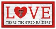 "Texas Tech Red Raiders 6"" x 12"" Love Sign"