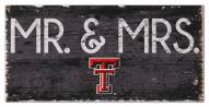 "Texas Tech Red Raiders 6"" x 12"" Mr. & Mrs. Sign"